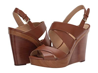 MICHAEL Michael Kors Dana Wedge (Luggage) Women