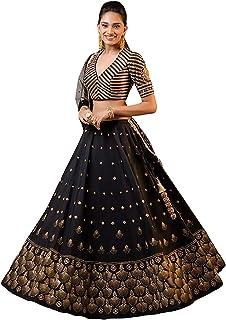 65069dfb16 Siddharth Fab Women's Taffeta Silk & Embroidery Work Lengha Choli And Blouse  With Net Dupatta (
