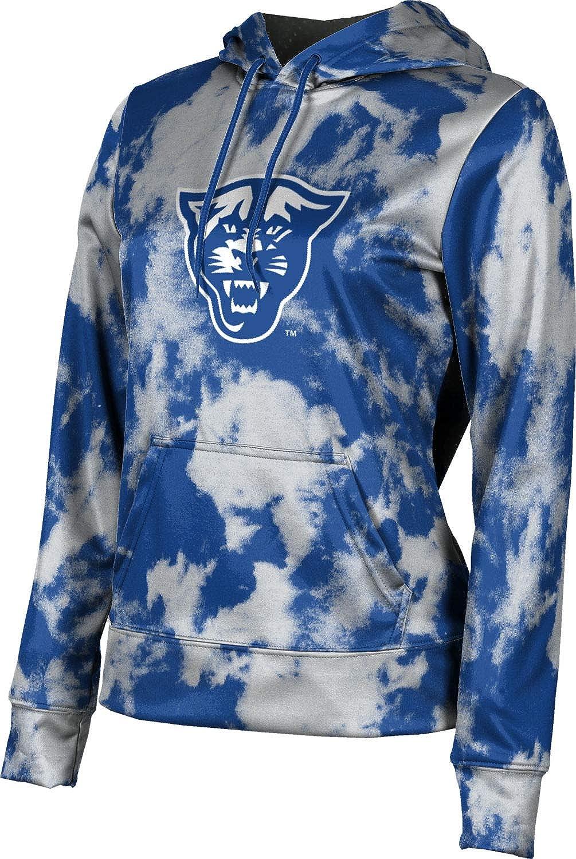 Georgia State University Girls' Pullover Hoodie, School Spirit Sweatshirt (Grunge)