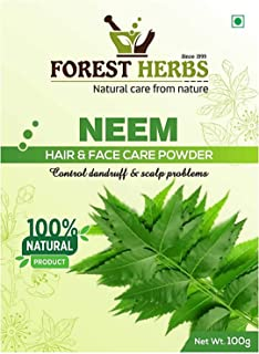 Forest Herbs 100% Organic Pure & Natural Pimple free Clear Skin, silky hair Neem Leaves Powder, 100gms