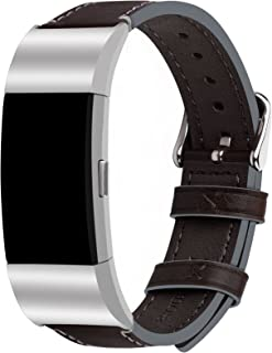 Fullmosa Compatible Fitbit Bands Charge 2, Genuine Leather Compatible Fitbit Charge 2 Bands for Men Women