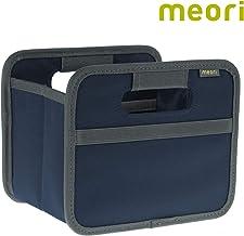 (Marine Blue) - meori Mini Foldable Box, 1.8 Litre/.5 Gallon, Marine Blue to Organise Cosmetics, Electronics, Office Supplies and More