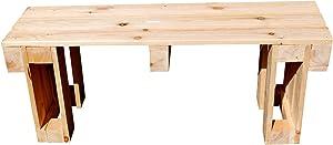 relaxedLiving | Sitzbank aus Paletten | Naturholz | Gartenmöbel | Palettenmöbel | unbehandeltes Holz | geeignet für Restaurants, Messen, Gastronomie etc. | Großbestellungen möglich
