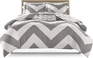 gray chevron bedding