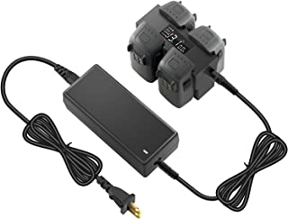 PENIVO スパークバッテリー 並列充電器 4個バッテリー充電ハブ, バッテリチャージャ 急速充電器 DJI Spark ドローン用アクセサリー 充電ボード