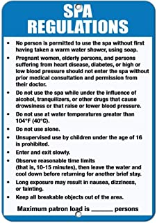 Flyss Spa Rules & Regulations Read & Follow Spa Rules for Safety… Aluminum Metal Sign