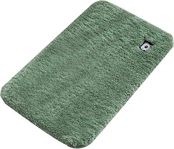 Bath Mat Kids Bath Rugs Bath Mat Rug Bathroom Carpet Entering The Door Foot Pad Household Non Slip Mat Pure Color Fluff Thicken Water Absorption WEIYV Color Light Green Size 160230cm