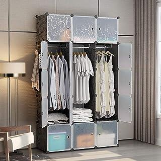 Genial GEORGEu0026DANIS Portable Wardrobe Plastic Modular Closet Organization  Customizable Cube Storage Organizer Bedroom Armoire Dresser, Black