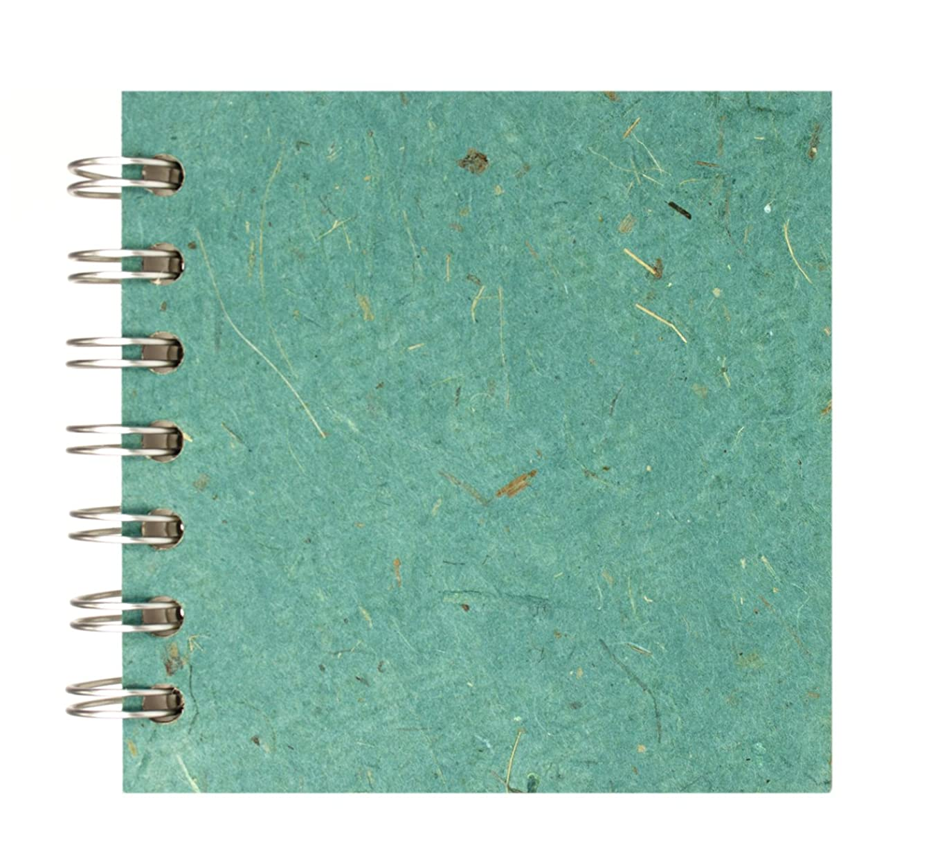 Zen Pink Pig, 4 x 4 Inch Square Sketchbook | 35 White Sheets, 100 Pound | Turquoise