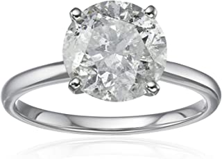 18k White Gold Solitaire Engagement Ring (3cttw, H-I Color, I3 Clarity), Size 7