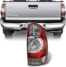 For 05-15 Toyota Tacoma Pickup Truck Red Clear Rear Tail Lights Brake Lamps Passenger Right Side Replacement