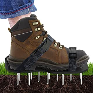 Scuddles Lawn Shoes NEW 2019 - 3 Straps Heavy Duty Spike Aerating Sandals for SOI - Airators for Lawns - Outdoor Aerator - Lawn Airrators Shoes - Yard Aireators
