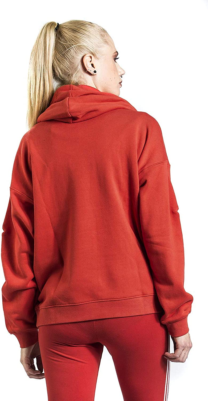 adidas LRG Logo Hoodie Sweat-Shirt Femme Lush Red/White