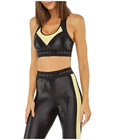 Koral Emblem Infinity Sports Bra (Black/Pina) Women