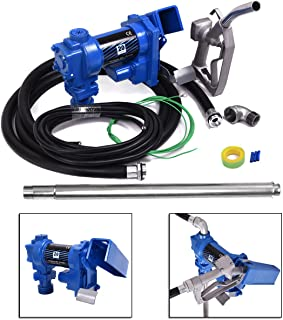 JAXPETY Fuel Transfer Pump 12 Volt 20 GPM Diesel Gas Gasoline Kerosene Car Tractor Truck
