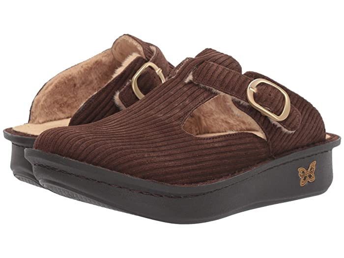 Alegria  Classic (Capt. Corduroy Brown) Womens Clog Shoes