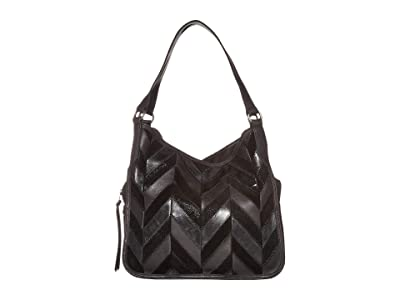 The Sak Salinas Triple Compartment Hobo by The Sak Collective (Black Patch) Handbags