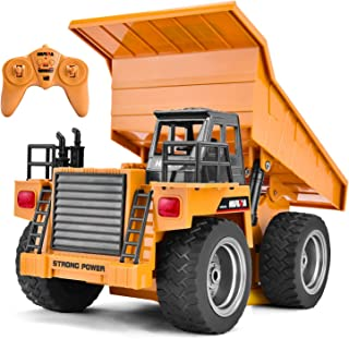 Rainbrace Remote Control Construction Toy RC Construction Vehicle RC Dump Truck Remote Control Dump Truck Toy RC Tractor RC Truck for Kids Remote Control Truck for Boy Toys 5 16 Years Old Boys Gift