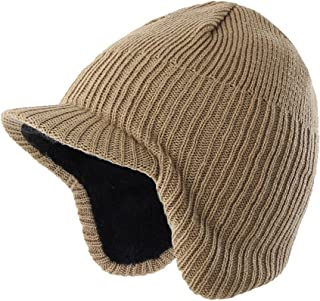 (コネクタイル)Connectyle ニット帽子 つば付き 赤ちゃん 幼児 暖かい 冬帽 子供 ニットキャップ 耳当て ニット帽 キッズ 男の子 ボア裏地 防寒