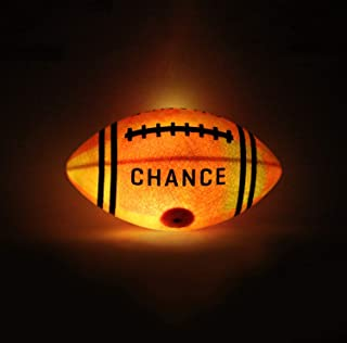Chance Light Up Football : Glow in The Dark LED Ball (Sizes 7 Kids & Youth Football, 9 Official NFL Football Size) (6 Junior, 10.5
