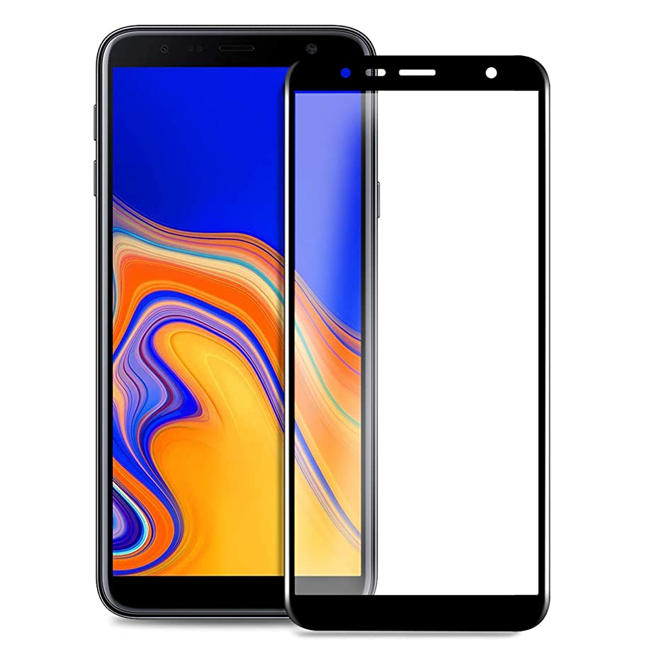 Yocktec Samsung Galaxy J4 Core Screen Protector, [9H Hardness] [Full Coverage] Protective Film HD Clear Tempered Glass Screen Protector for Samsung Galaxy J4 Core 2018 Smartphone (Black)