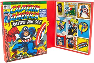 Marvel Official Captain America Retro Pin Badge Set