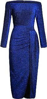 shiny royal blue dress