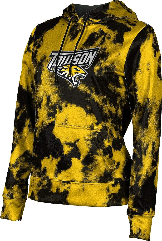 ProSphere Towson University Girls' Pullover Hoodie, School Spirit Sweatshirt (Grunge)