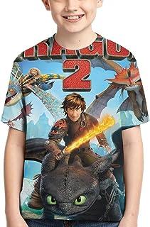 ヒックとドラゴン ボーイズ 半袖 クルーネック Tシャツ 3dフルプリント 子供服 キッズ ガールズ兼用 H-Ow To Tra-In Your Dragon