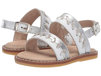 Elephantito Larissa Sandal (Toddler) (White) Girls Shoes