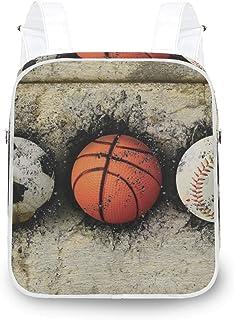 LUPINZ - Mochila de baloncesto con diseño de pared de ladrillo, resistente