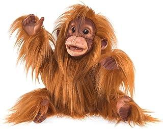 Folkmanis Baby Orangutan Hand Puppet, Orange-Brown