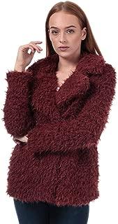 Vero Moda Womens Jayla Miley Faux Fur Jacket in Madder Brown.