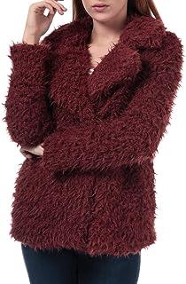 Vero Moda Jayla Miley - Chaqueta de piel sintética para mujer, color marrón