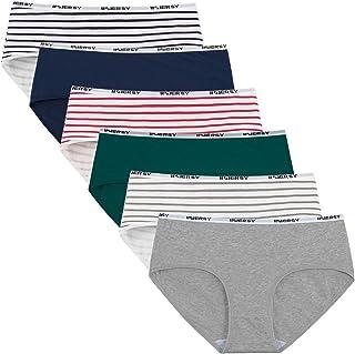 INNERSY Perioden biancheria intima Menstruation Slip da donna in cotone morbido Postpartum a prova di perdite vita bassa panties confezione da 3 pezzi