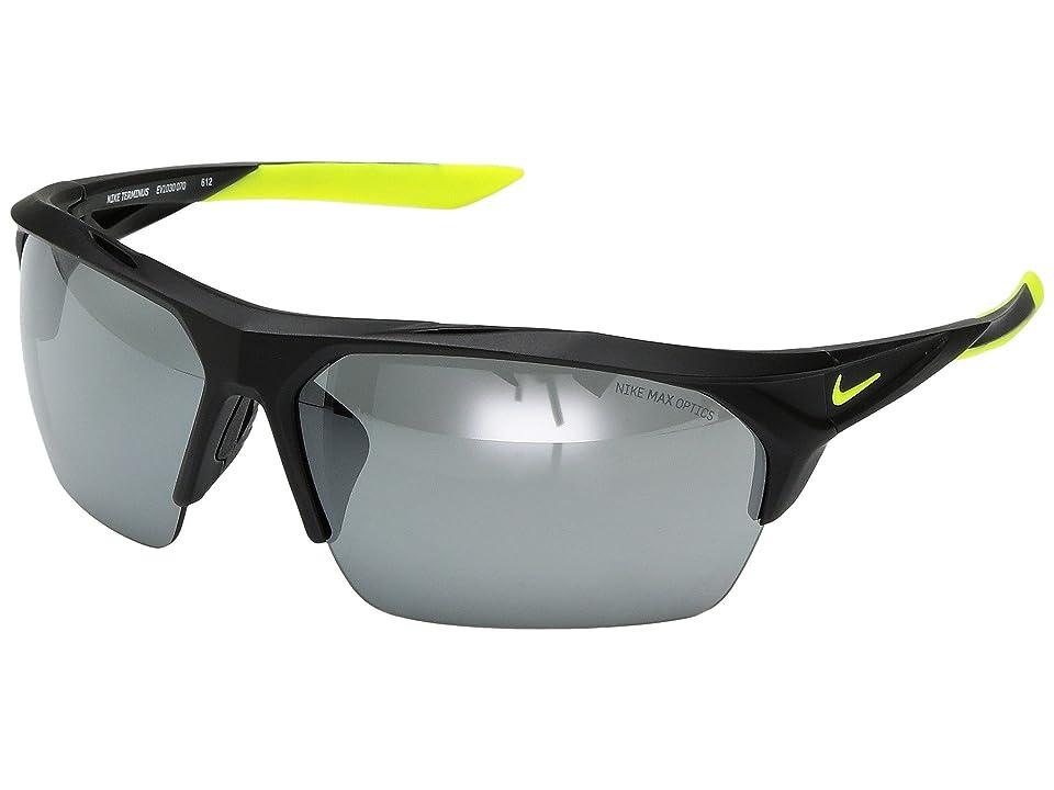 Nike Terminus (Matte Black/Volt) Sport Sunglasses