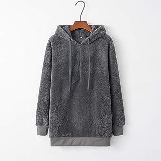 Sudadera de lana difusa con capucha para mujer