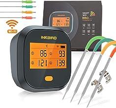 Inkbird WiFi Vleesthermometer BBQ, IBBQ-4T Magnetische Alarm BBQ Thermometer met 4 Probes, 2000mAh Oplaadbare Grillthermom...