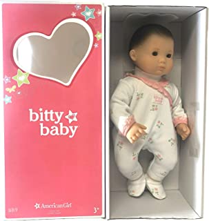 American Girl - Bitty Baby Doll Light Skin Brown Hair Green Eyes BB9