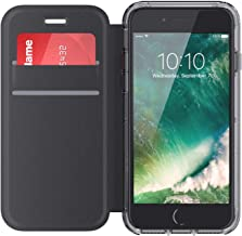 Griffin Survivor Clear Carrying Case (Folio) for iPhone 6, iPhone 6S, iPhone 7 - Clear, Black