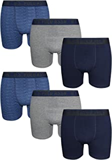 Men's Stretch Fit Boxer Briefs with Comfort Pouch (6 Pack)