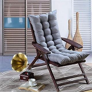 AGDLLYD Cojín para Tumbona de jardín, Silla de Escritorio, Cojines de Asiento, Almohadillas reclinables para Patio, sillón Relajante, Almohadilla para salón, 120 x 48 x 8 cm (Gris)