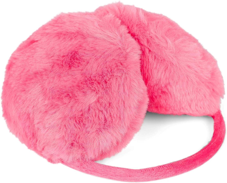 Earmuffs 04026056 warme kuschlig weiche Winter Ohrw/ärmer styleBREAKER Damen Ohrensch/ützer einfarbig in Teddyfell Optik