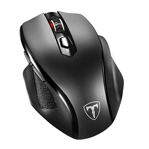 90b9c405617 VicTsing Full Size Wireless Mouse with Nano USB Receiver, 5 Adjustable CPI  Levels, 6