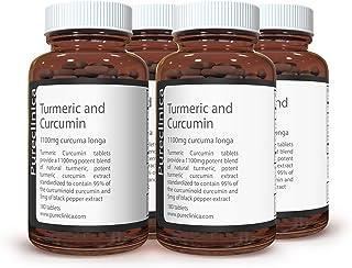 1100mg Turmeric and Curcumin - 720 tablets (4 bottles) x