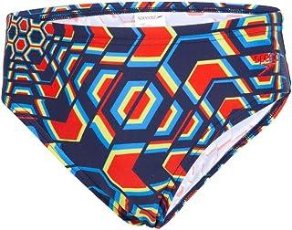 Size 26 Speedo Boys Essential Logo Briefs Navy//Bright Zest