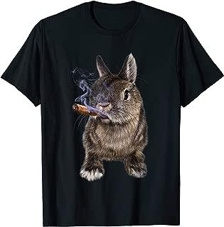 Grumpy Netherland Dwarf Rabbit with Cigar, Bad Bunny T-Shirt