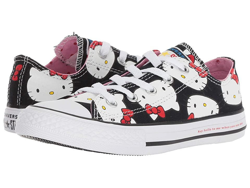 Converse Kids Hello Kitty(r) Chuck Taylor(r) All Star(r) Ox (Little Kid) (Black/Prism Pink) Girl