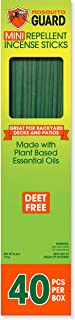 Mosquito Guard Incense Repellent Sticks – Made with Natural Plant Based Ingredients:..