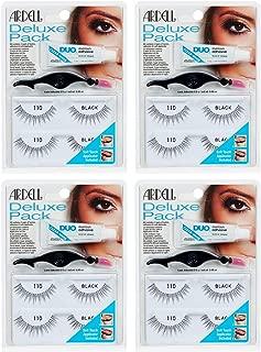 Ardell False Eyelashes Deluxe Pack 110 Black 4 Pack